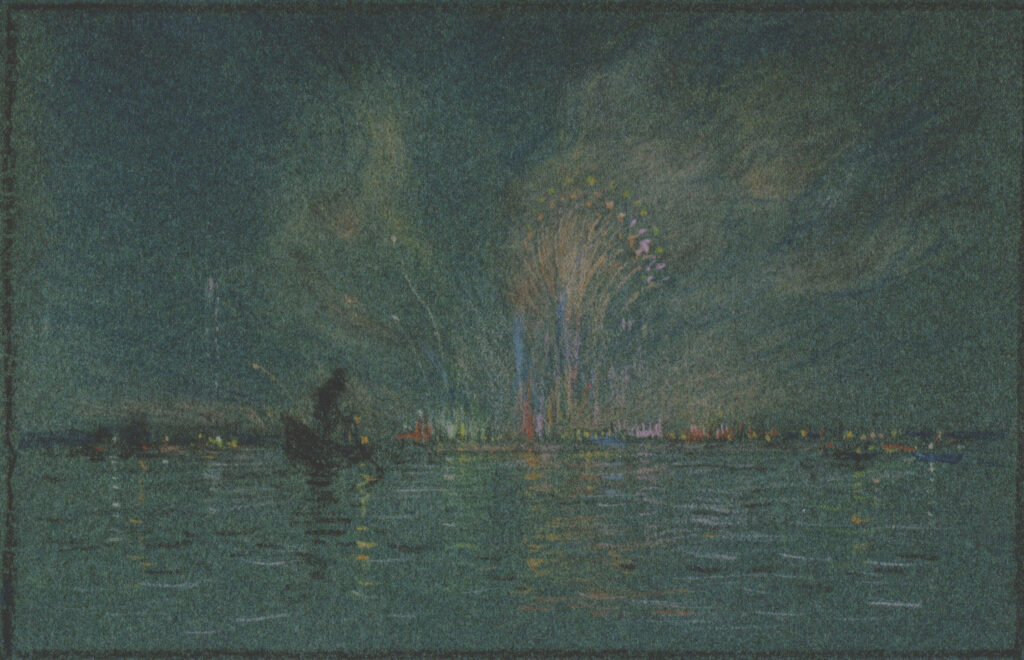 Festival of the Redentore 6 ¼ x ½ in. pastel 1928