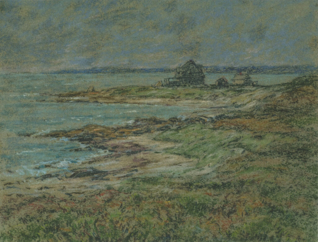 First House White's Point 9 ¼ x ⅞ in. pastel before 1914 #F4CA
