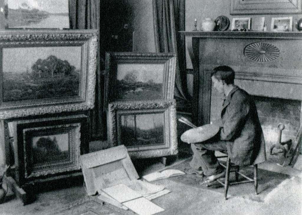 Henry C. White in his Hartford Studio ca. 1895