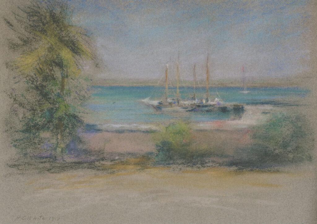 Nassau 9 ¼ x ½ in. pastel 1917