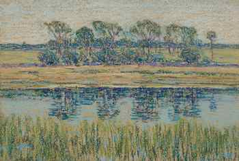 Tidal Marsh with Copse, 1895